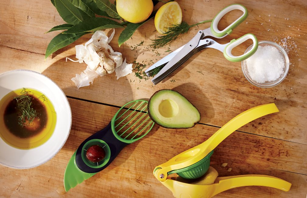 Avacado Tool, Herb Scissors and Dual Citrus Squeezer