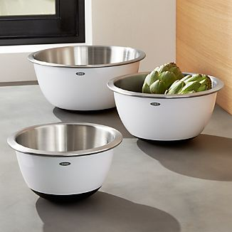 Set of 3 OXO ® Stainless Steel Mixing Bowls