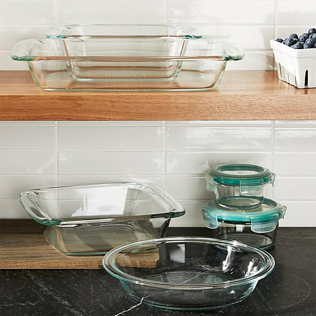 Oxo 174 8 Piece Glass Bakeware Set Crate And Barrel