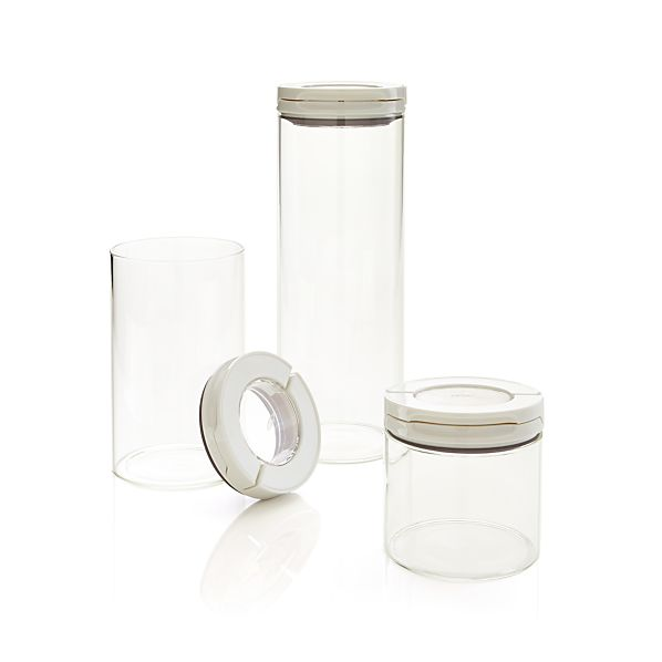 OXO ® Glass FlipLock Canisters Set of 3