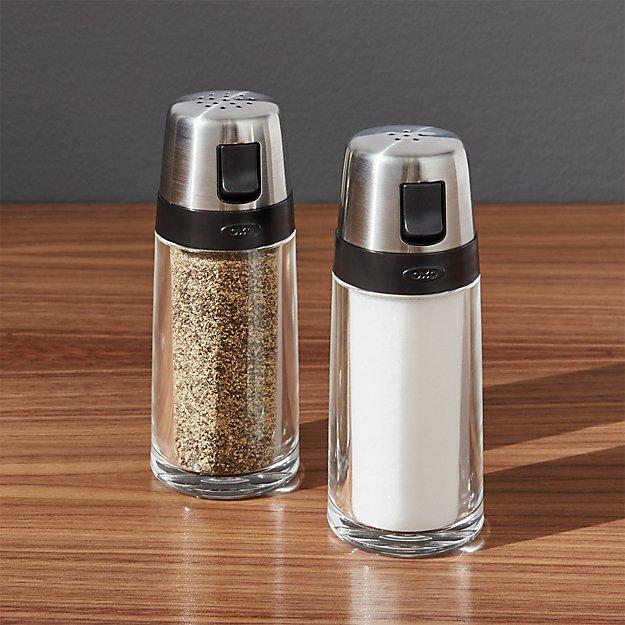 salt and pepper shaker set crate and barrel. Black Bedroom Furniture Sets. Home Design Ideas