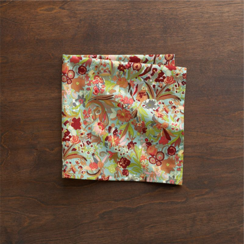 Dense garden is lush with deeply saturated color and modern botanical pattern, expertly printed on 100% cotton.<br /><br /><NEWTAG/><ul><li>100% cotton</li><li>Machine wash, tumble dry; warm iron as needed</li></ul>