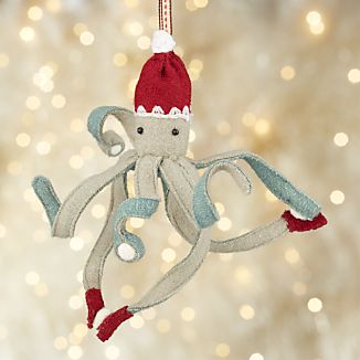 Octopus with Snowballs Ornament