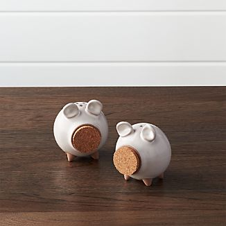 Set of 2 Oink Salt and Pepper Shakers
