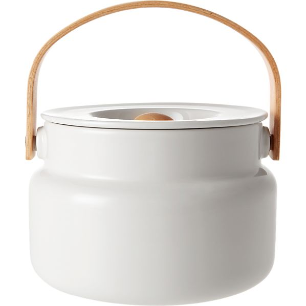 Marimekko Oiva White Serving Pot