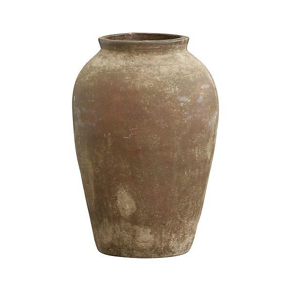 Large Moss Olive Jar