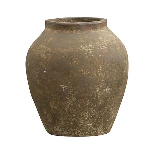Small Moss Olive Jar