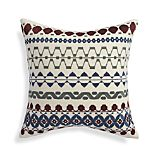 "Oliver 18"" Pillow with Feather-Down Insert"