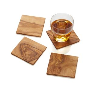 Set of 4 Olivewood Coasters
