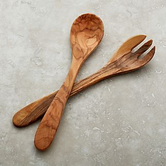 Olivewood 2-Piece Salad Serving Set