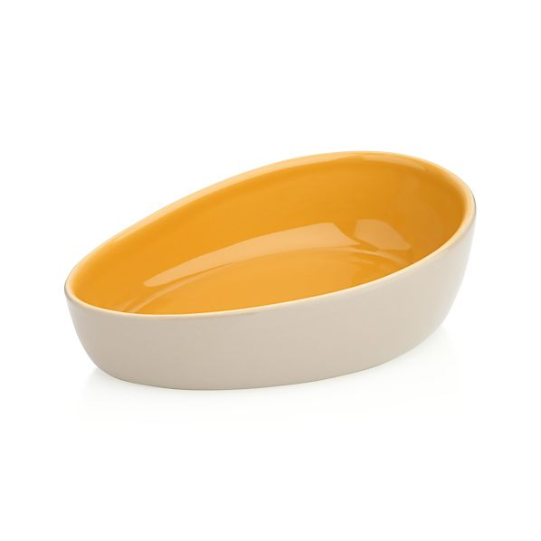 Olson Grey-Orange Bowl