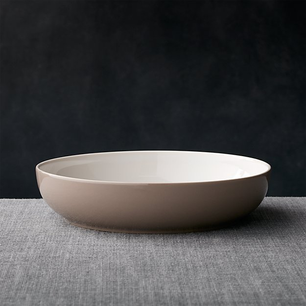 Olson Grey Low Bowl