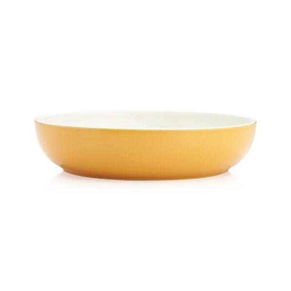 Olson Orange Low Bowl