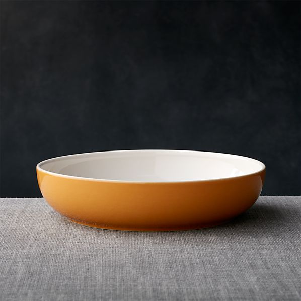 Olson Orange Low Bowl