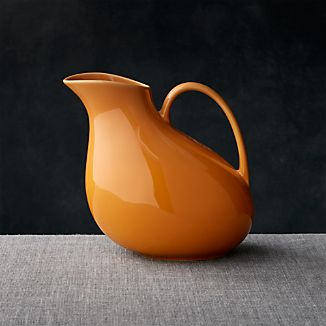 Olson Orange Pitcher