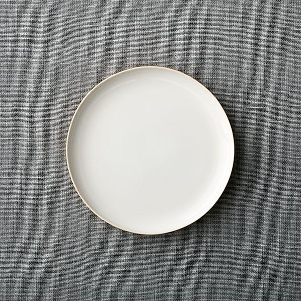 Olson Orange Salad Plate