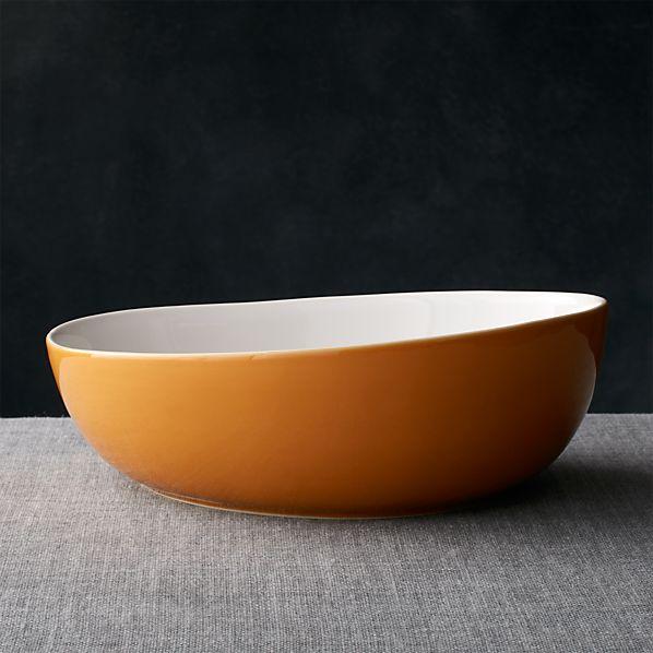Olson Orange Serving Bowl