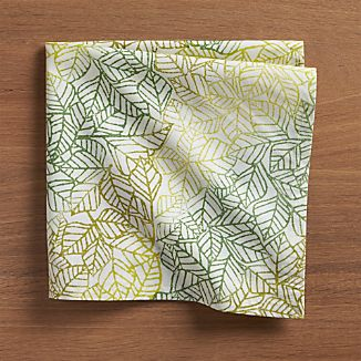 Ombre Leaves Cloth Napkin