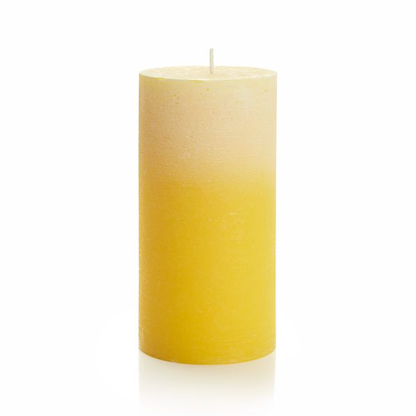 """Ombre Yellow 3""""x6"""" Pillar Candle"""