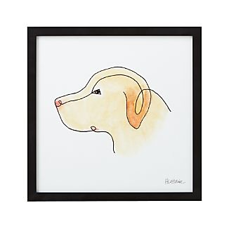 One Liner Yellow Lab Print