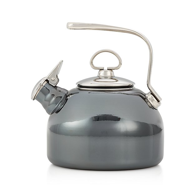 Whistling Tea Kettle ~ Chantal classic onyx whistling tea kettle crate and barrel