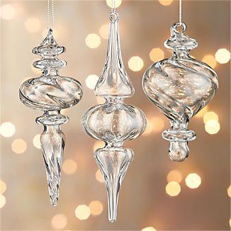 Optic Glass Drop Ornaments