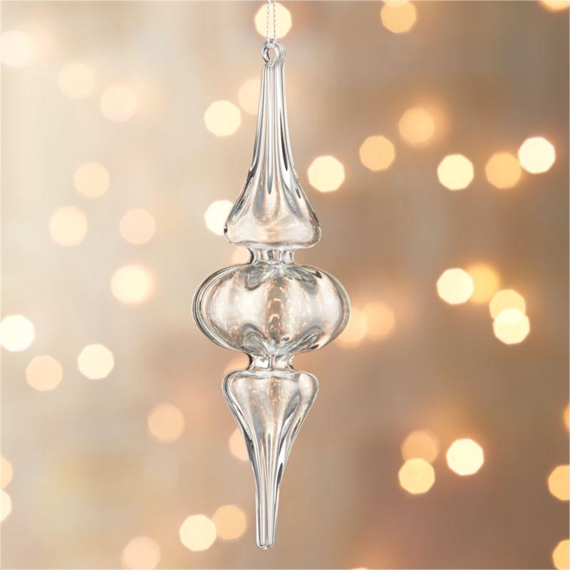Optic Glass Drop Large Ornament