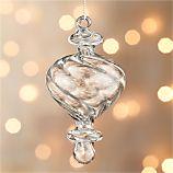 Optic Glass Drop Small Ornament