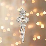 Optic Glass Drop Medium Ornament