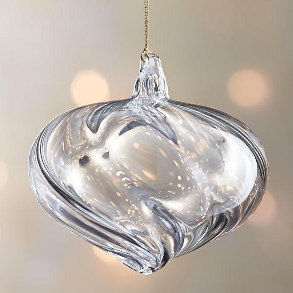 Optic Glass Onion Ornament