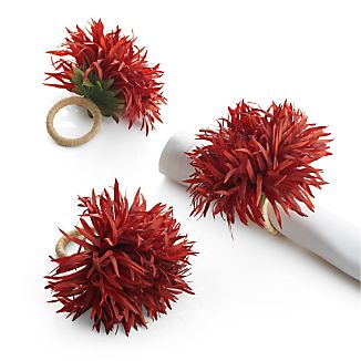Orange Mum Napkin Ring