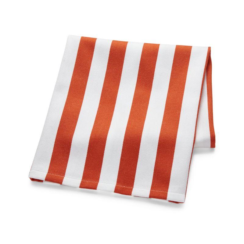 Orange Stripe Dish Towel