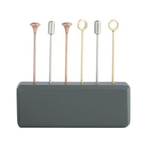Set of 6 Orb Cocktail Picks