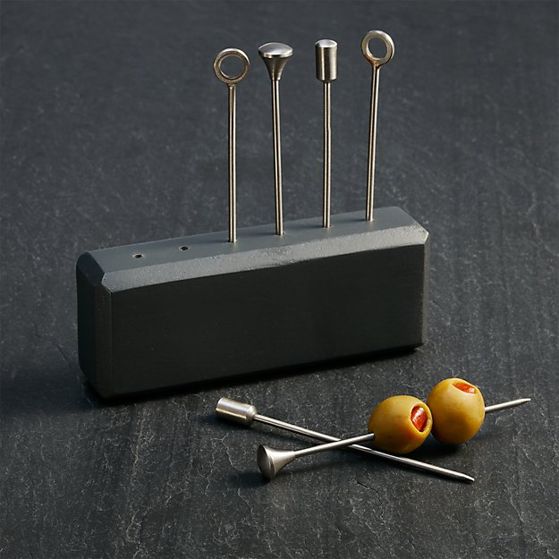 Orb Stainless-Steel Cocktail Picks