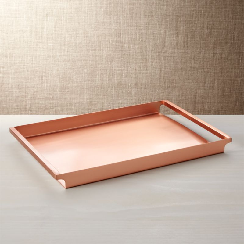 Orb Copper Tray Crate And Barrel
