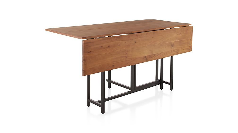 Origami drop leaf rectangular dining table crate and barrel for Rectangular drop leaf dining table