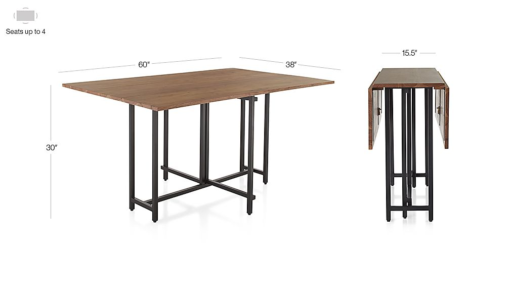 Crate And Barrel Folding Dining Table Images