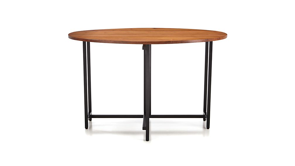 Origami Drop Leaf Oval Dining Table Crate and Barrel : OrigamiRndDropLeafTableS16 from www.crateandbarrel.com size 1008 x 567 jpeg 19kB