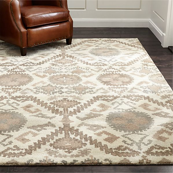 Orissa Neutral Wool Rug Crate And Barrel