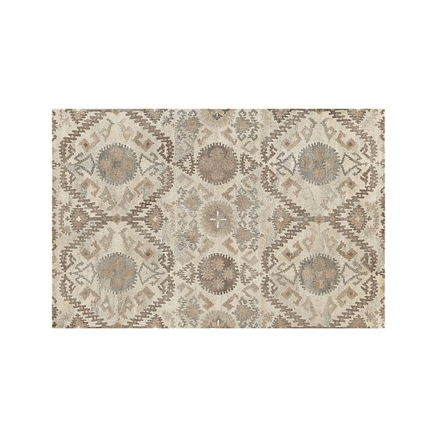 Orissa Neutral Wool 6'x9' Rug