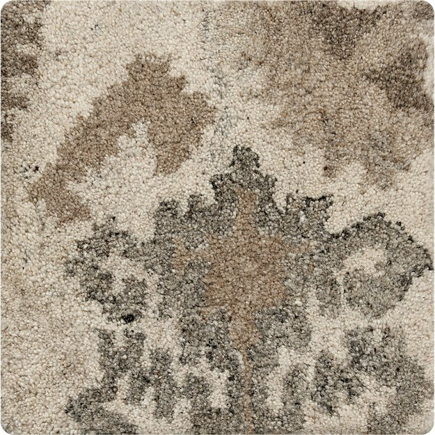 "Orissa Neutral Wool 12"" sq. Rug Swatch"
