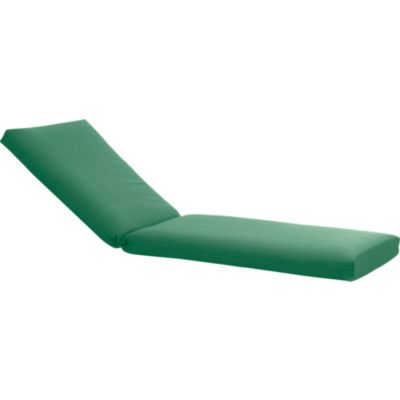 Orleans Sunbrella® Bottle Green Chaise Lounge Chair Cushion