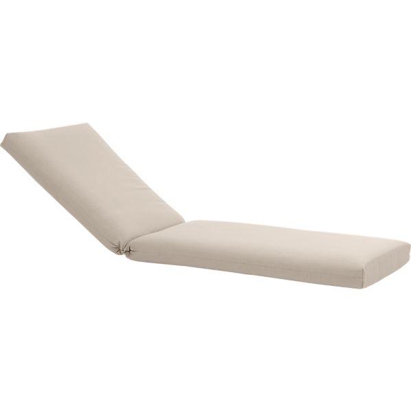 Orleans Sunbrella ® Stone Chaise Lounge Chair Cushion