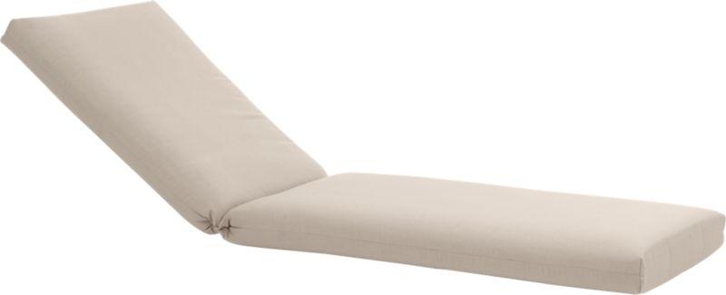 Optional chair cushion is covered in fade- and weather -resistant Sunbrella® acrylic in stone. Fabric tab fasteners hold cushion in place.<br /><br /><NEWTAG/><ul><li>100% solution-dyed Sunbrella® acrylic</li><li>100% urethane foam insert</li><li>Mold-, mildew-, fade- and rot-resistant</li><li>For outdoor use</li><li>Spot clean</li><li>Store indoors during winter or inclement weather</li><li>Made in USA</li></ul>