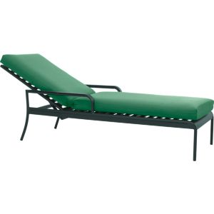 Orleans Chaise Lounge Chair with Sunbrella® Bottle Green Cushion