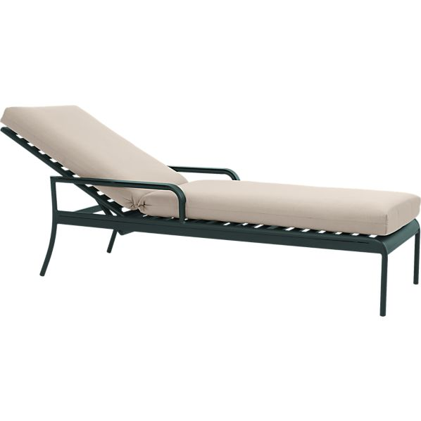 Orleans Chaise Lounge Chair with Sunbrella ® Stone Cushion