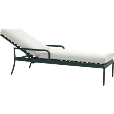 Orleans Chaise Lounge Chair with Sunbrella® White Sand Cushion