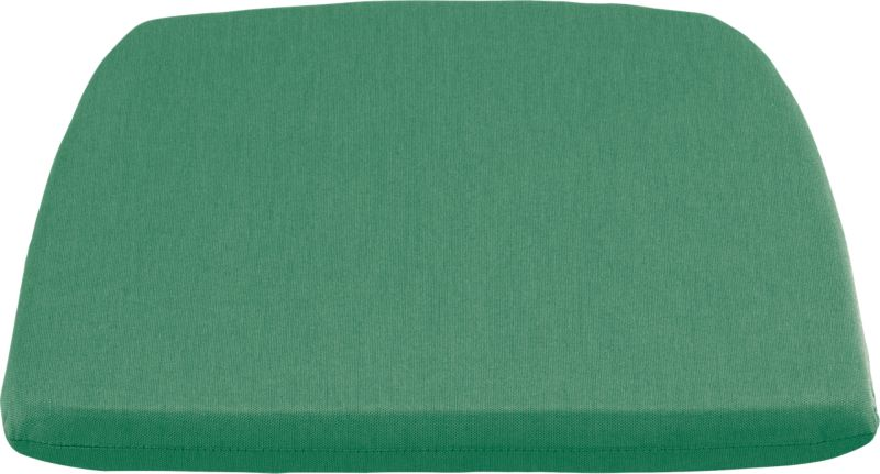 Optional seat cushion is covered in fade- and weather -resistant Sunbrella® acrylic in bottle green. Fabric tab fasteners hold cushion in place.<br /><br /><NEWTAG/><ul><li>100% solution-dyed Sunbrella® acrylic</li><li>100% urethane foam insert</li><li>Mold-, mildew-, fade- and rot-resistant</li><li>For outdoor use</li><li>Spot clean</li><li>Store indoors during winter or inclement weather</li><li>Made in USA</li></ul>