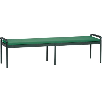 Orleans Small Dining Bench with Sunbrella® Bottle Green Cushion