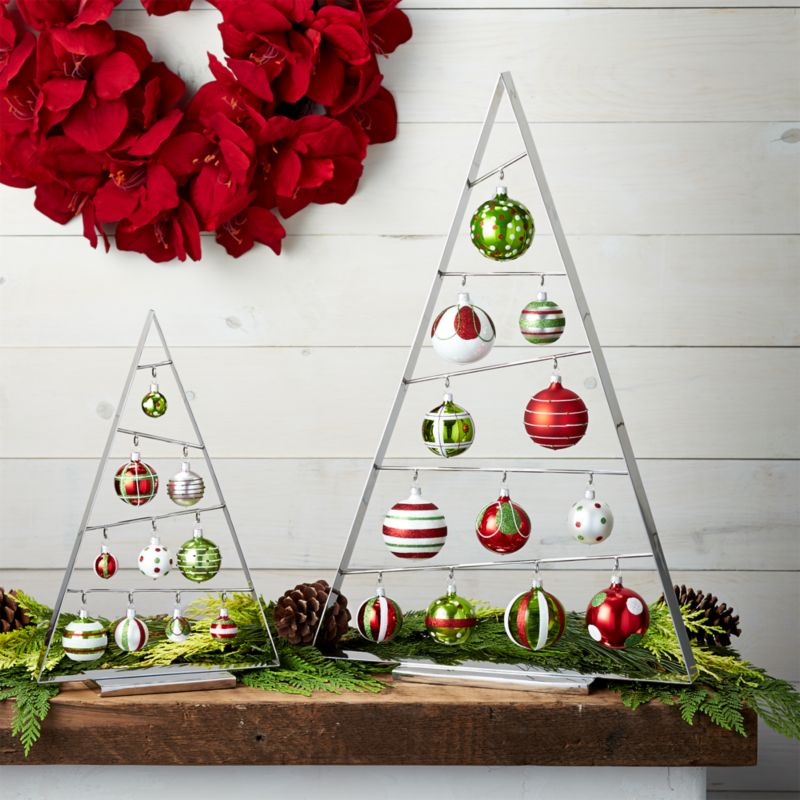 Christmas Tree Ornaments Picture Frames : A frame silver ornament trees crate and barrel